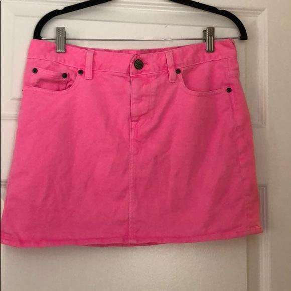 0071c2d8aa J. Crew Dresses & Skirts - Neon Pink Jean skirt - J Crew